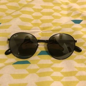 RAY BAN black nickel sunglasses